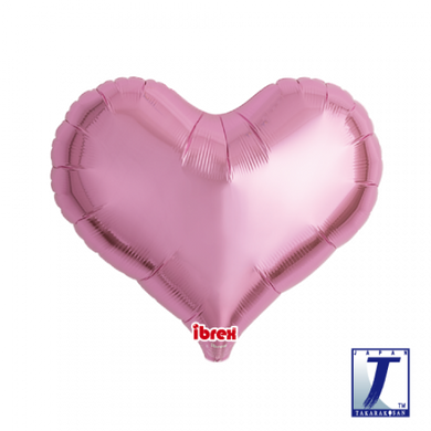Metallic Pink Jelly Heart Foil Balloon (unpackaged)