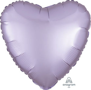 Satin Luxe Pastel Lilac Heart Foil Balloon