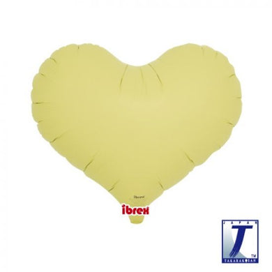 Pastel Yellow Jelly Heart Foil Balloon (unpackaged)
