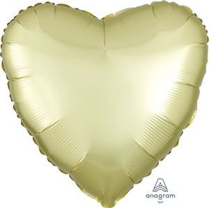Satin Luxe Pastel Yellow Heart Foil Balloon