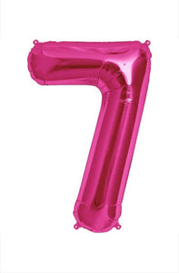 "34"" Pink Foil Number Balloon -7"