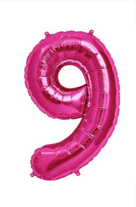 "34"" Pink Foil Number Balloon - 9"