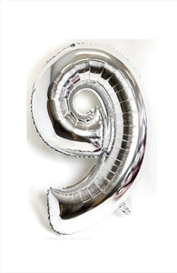 "40"" Silver Foil Number Silver - 9"