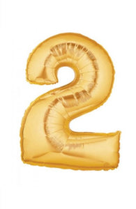 "40"" Gold Foil Number Balloon - 2"