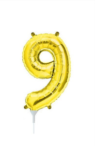 "16"" (41cm) Gold Foil Number Balloon - 9 (Air-Fill)"