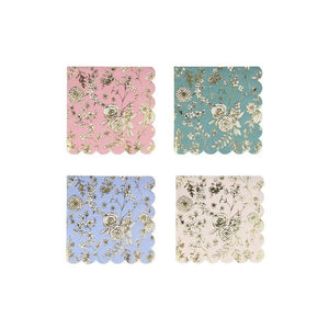 English Garden Lace Small Napkins (PK16 in 4 designs)