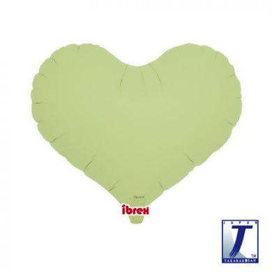 Pastel Green Jelly Heart Foil Balloon (unpackaged)