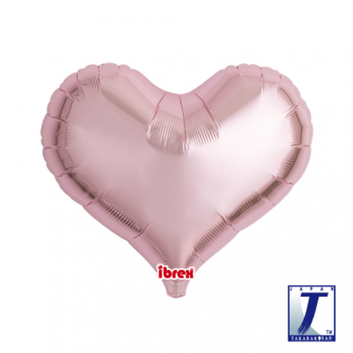 Metallic Light Pink Jelly Heart Foil Balloon (unpackaged)
