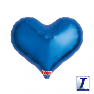 Metallic Blue Jelly Heart Foil Balloon (unpackaged)