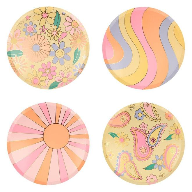 Psychedelic 60s Dinner Plates