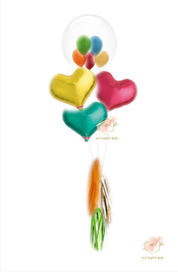 Bubble Gum Balloon Bouquet - Metallic Rainbow