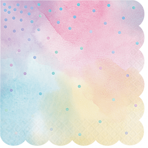 Iridescent Foil Lunch Napkins PK16