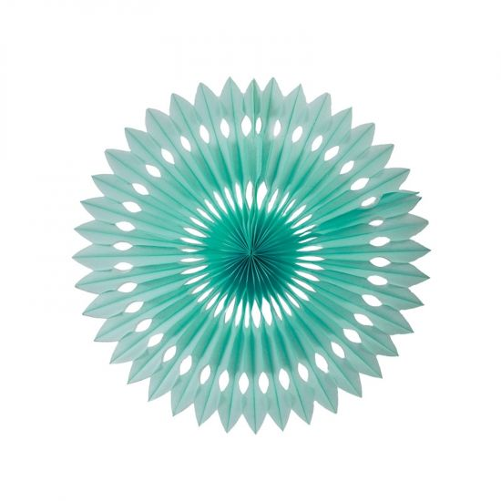 40cm Paper Hanging Fan Mint Green PK1