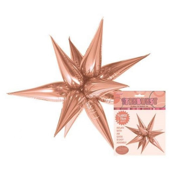 Rose Gold Starburst Foil Balloon 70cm