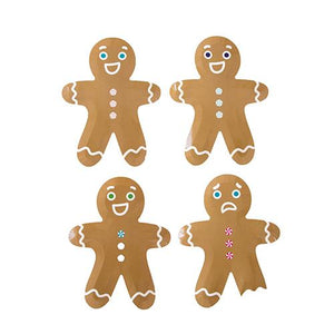 Gingerbread Man Plates PK8