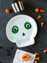 "Load image into Gallery viewer, 6"" Halloween Skeleton Plate (PK8)"