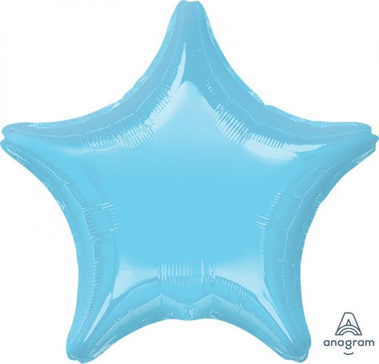 Metallic Light Blue Star Foil Balloon