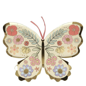 Floral Butterfly Plates (PK8)
