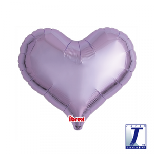 Metallic Lavender Jelly Heart Foil Balloon (unpackaged)
