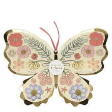 Load image into Gallery viewer, Floral Butterfly Plates (PK8)