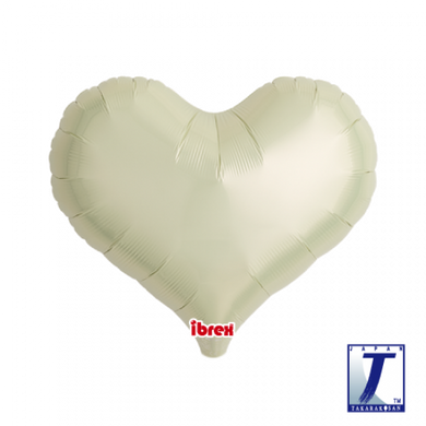 Metallic Ivory Jelly Heart Foil Balloon (unpackaged)