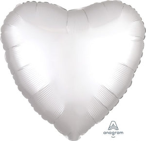 Satin Luxe White Heart Foil Balloon