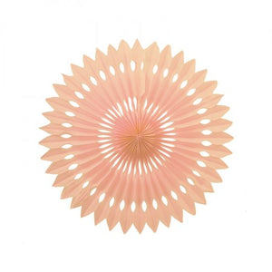 24cm Paper Hanging Fan Peach PK1