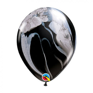 "11"" (28cm) Black & White Marble Latex Balloon"
