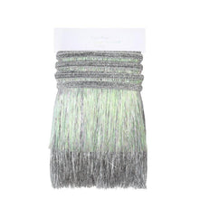 Load image into Gallery viewer, Silver Iridescent Tinsel Fringe Garland
