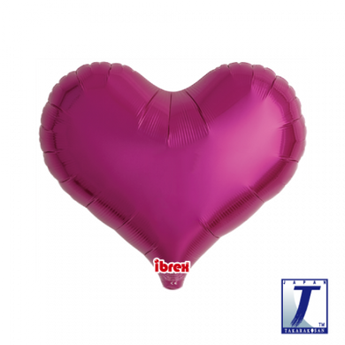 Metallic Magenta Jelly Heart Foil Balloon (unpackaged)