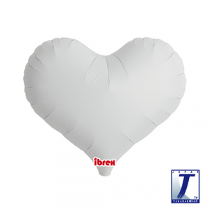 White Jelly Heart Foil Balloon (unpackaged)