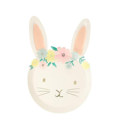 Floral Bunny Plates PK8