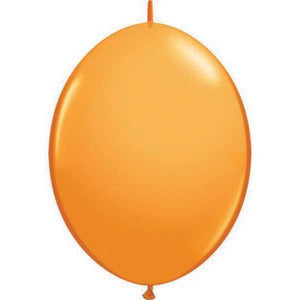"6"" Standard Orange Quick Link Latex Balloon"