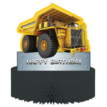 Load image into Gallery viewer, Construction Birthday Zone Honeycomb Centrepiece