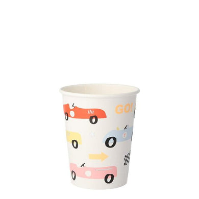 Race car party cups (PK8)