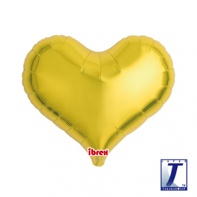 Metallic Gold Jelly Heart Foil Balloon (unpackaged)