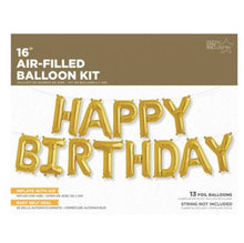Load image into Gallery viewer, Gold Happy Birthday Script Foil Balloon