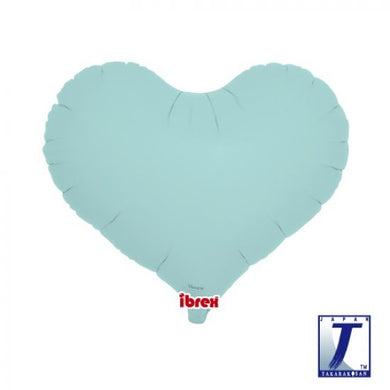 Pastel Blue Jelly Heart Foil Balloon (unpackaged)