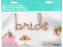 Load image into Gallery viewer, Rose Gold Bride Script Foil Balloon
