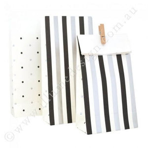 Silver & Black,Stripes & Dots Treat Bags (PK10)