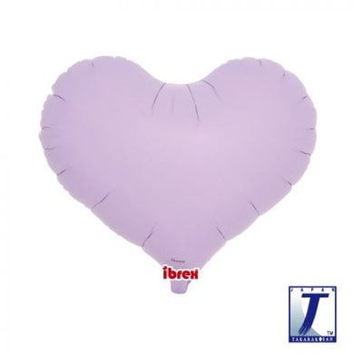 Pastel Lavender Jelly Heart Foil Balloon (unpackaged)