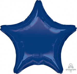 Dark Blue Star Foil Balloon (unpackaged)