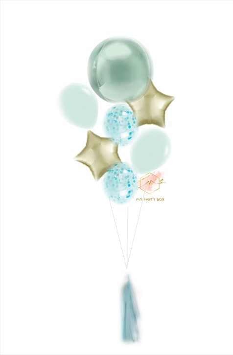Pastel Green Deluxe Balloon Bouquet