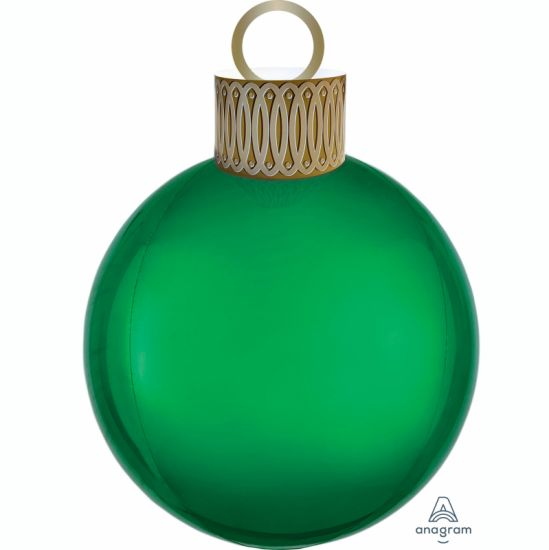 Green Christmas Ornament Foil Balloon