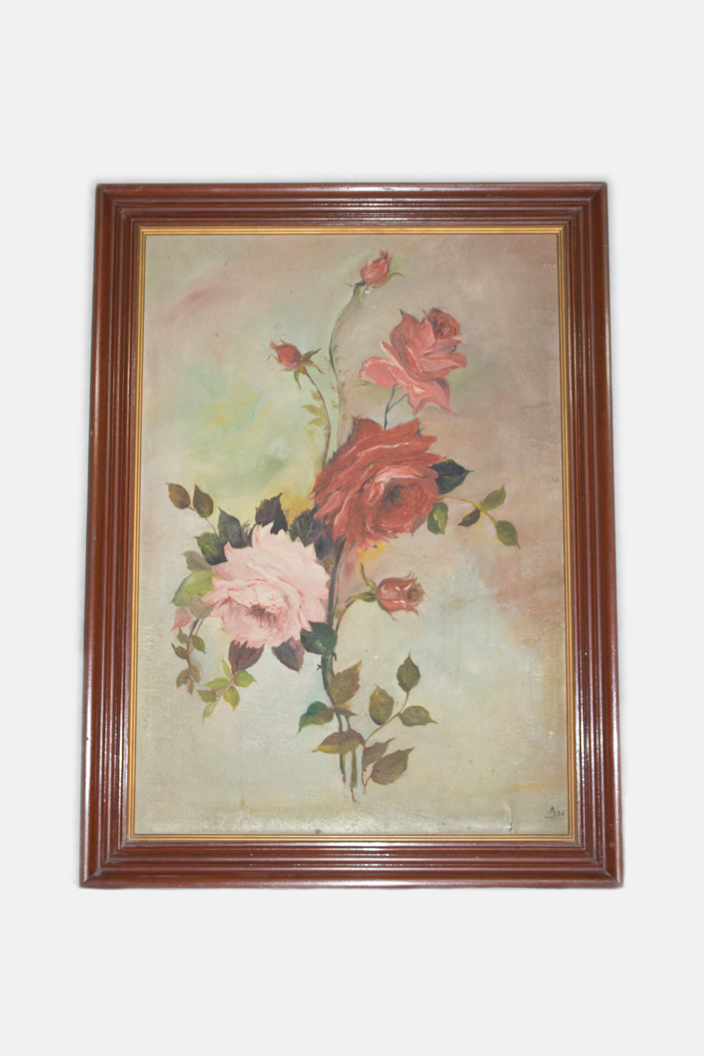 Open Bouquet / Antique Flower Oil Painting