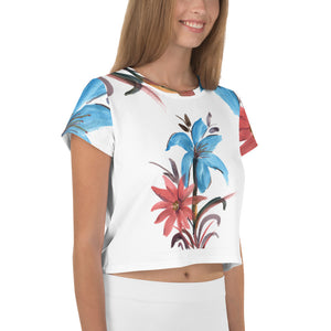 Hoppipolla All-Over Print Crop Tee