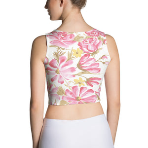 Elixir Floral Sublimation Cut & Sew Crop Top