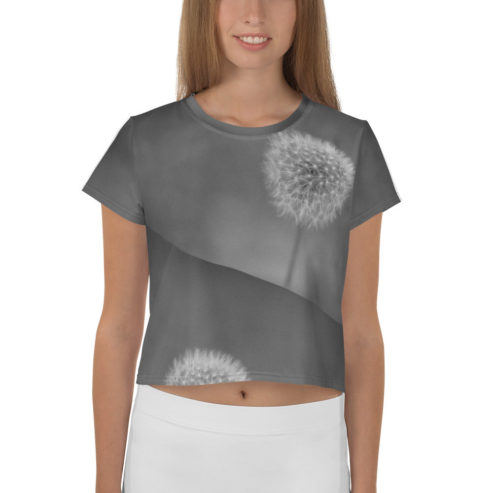 Isa Monochrome All-Over Print Crop Tee