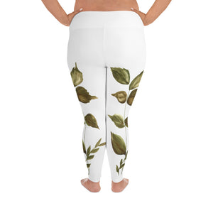 Aurora Floral All-Over Print Plus Size Leggings
