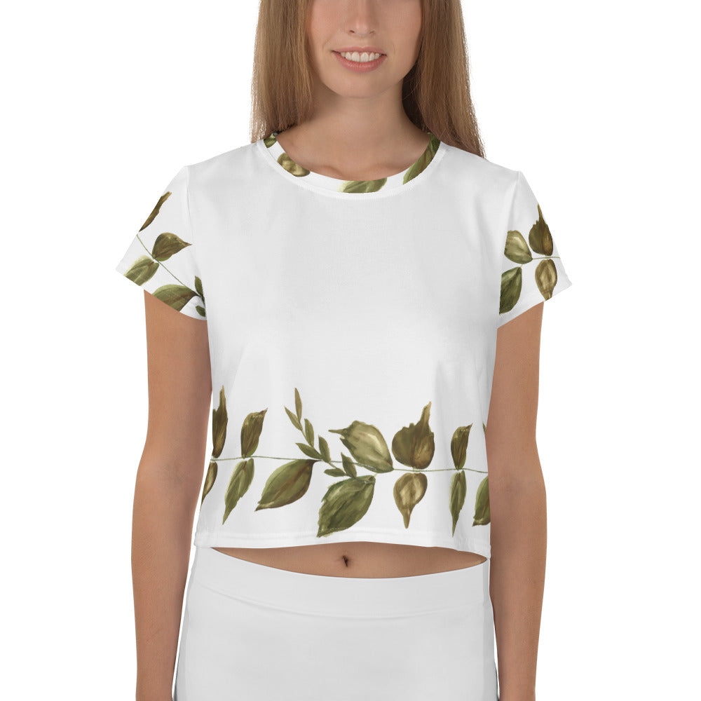 Aurora All-Over Print Crop Tee